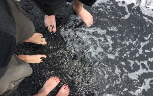 Hawaii Trip toes in the water