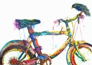 Eli Portman's bicycle painting