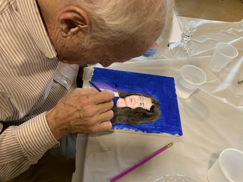 Painting a portrait